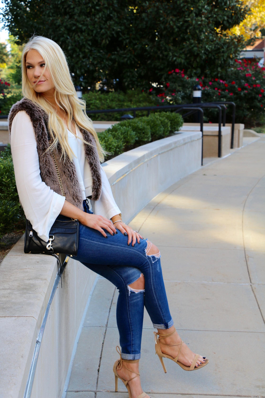Fur Vest Outfit Ideas