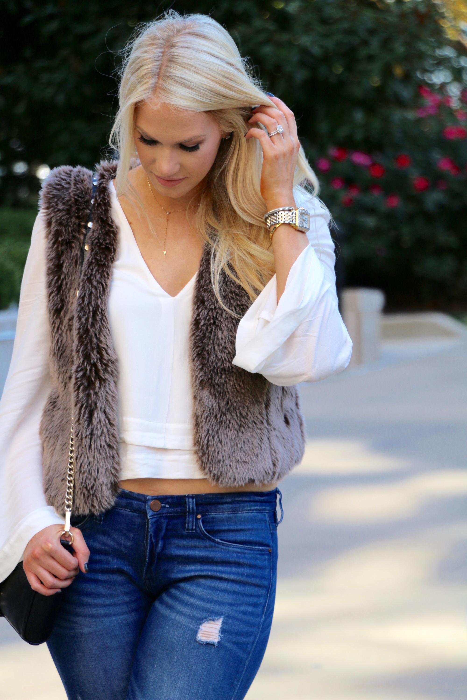 fur vest outfit ideas for 2018