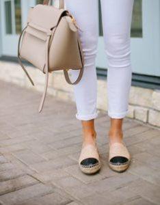Chanel espadrilles lambskin beige & black2