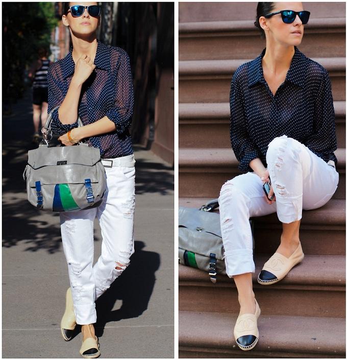 Chanel espadrilles outfit ideas