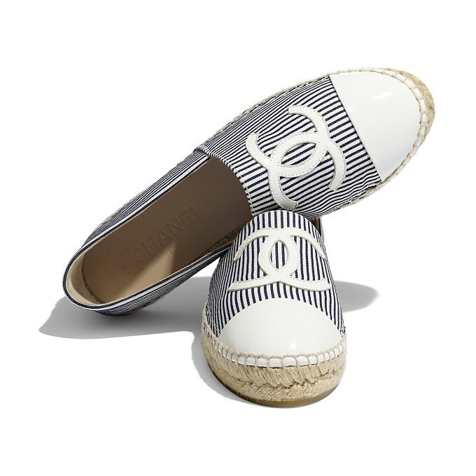 Chanel espadrilles tweed & patent