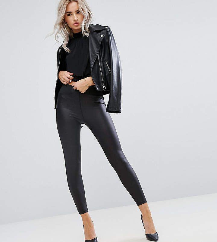 faux leather leggings asos