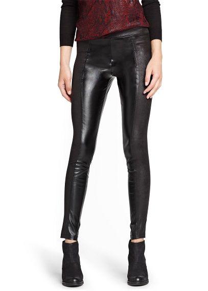 faux leather leggings mango