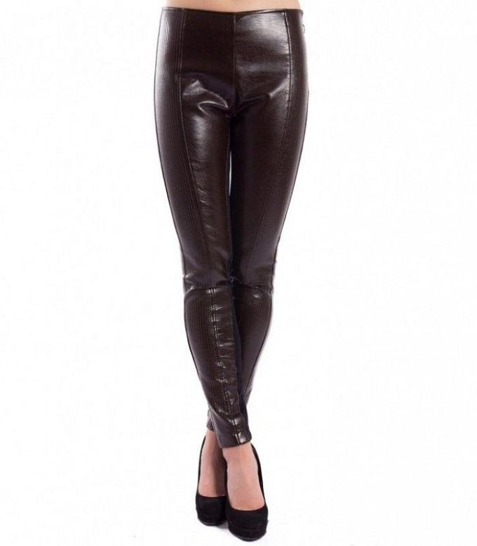 faux leather leggings pinko