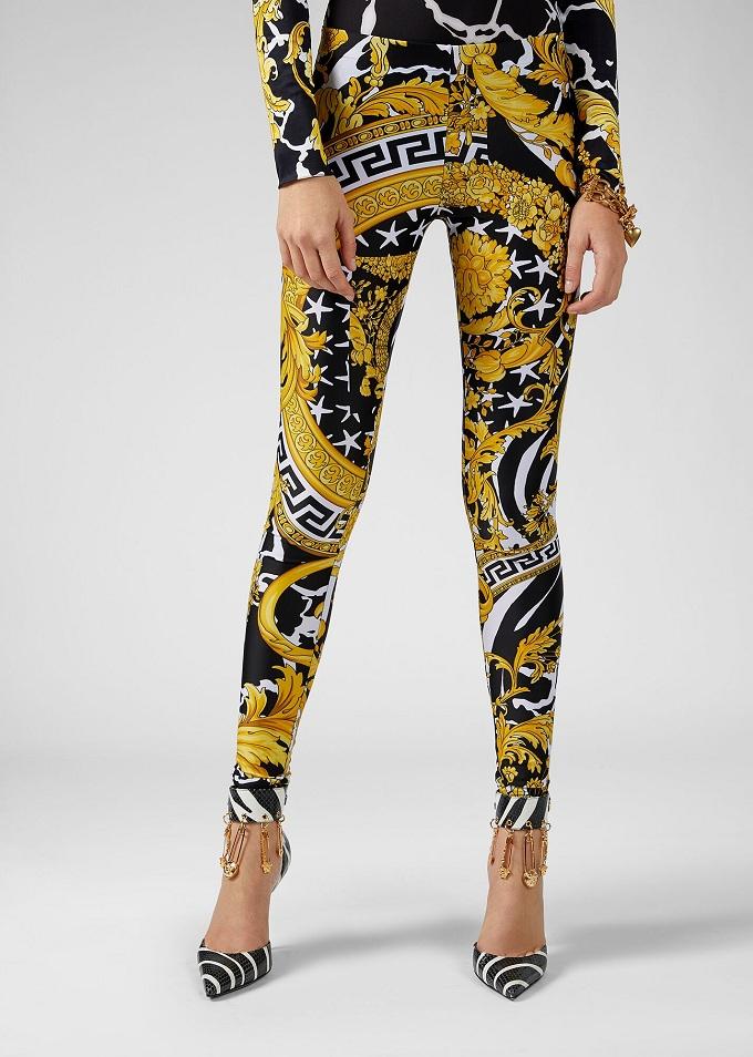 leggings versace