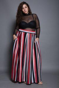 maxi skirt for curvy women