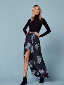 reformation maxi skirt