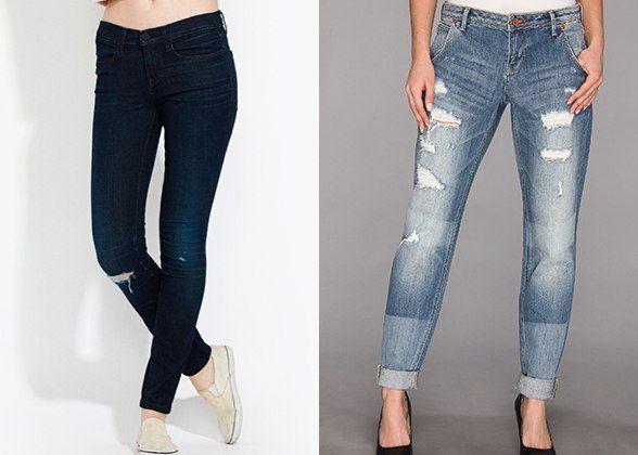skinny vs bf jeans