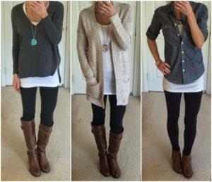 layered leggings