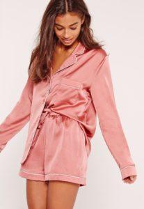 pink short pajamas