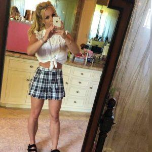 plaid skirt britney