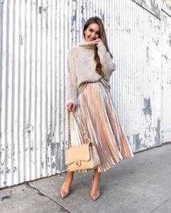 pleated skirt for nye